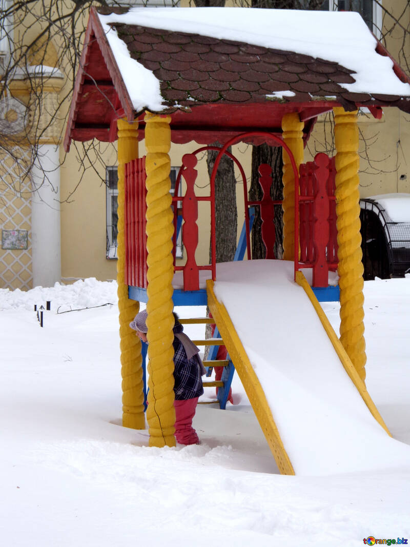 Children playing in the winter №21529