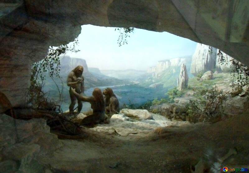 Cave primitive people №21466