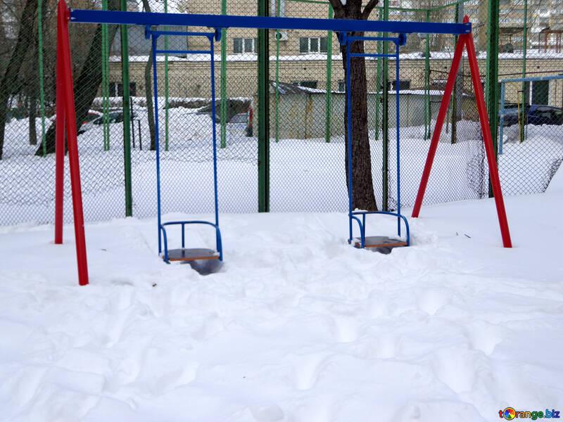 Baby swing in winter №21520
