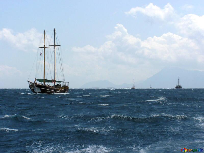Un sacco di barche in mare №21926