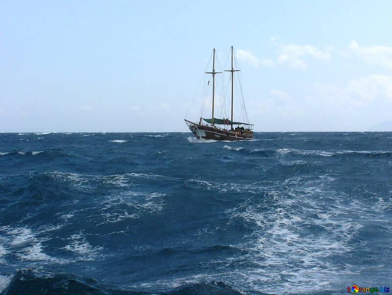 Yacht sailing on sea №21920