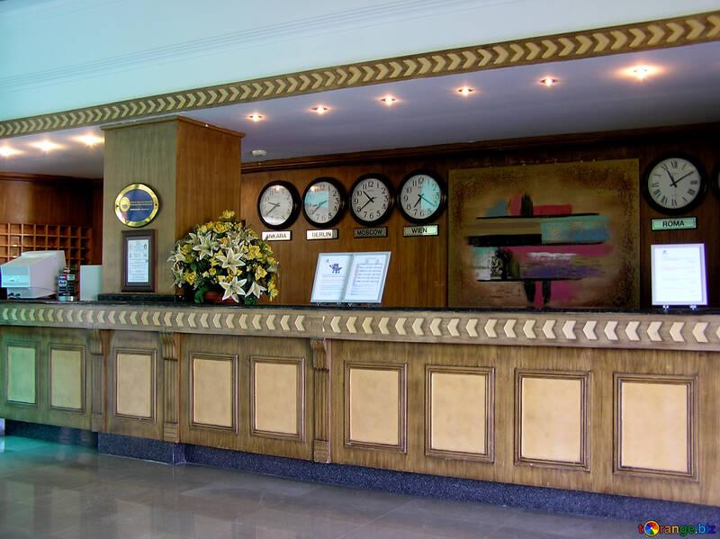 The hotel desk clock №21763