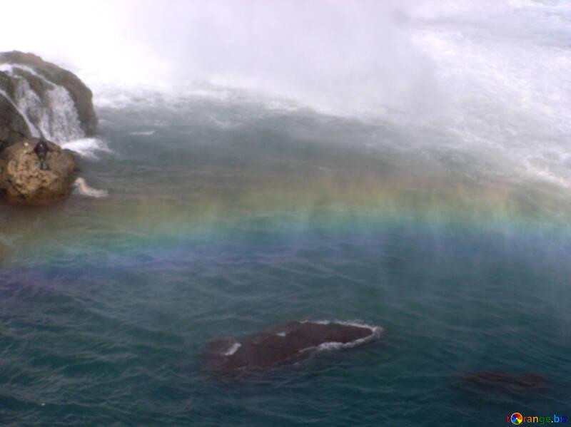 Rainbow in waterfall №21040