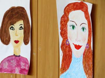 Children`s drawings mom №22092