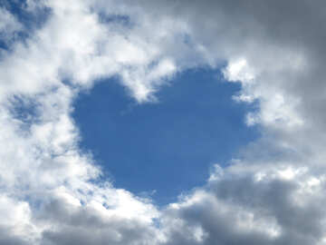 Heart from clouds №22606
