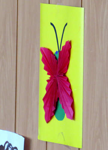 Children applique butterfly on the wall №22093