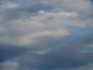 Il cielo della sera prima della pioggia №22571