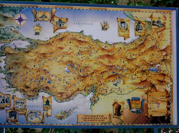 Map of Turkey №22066