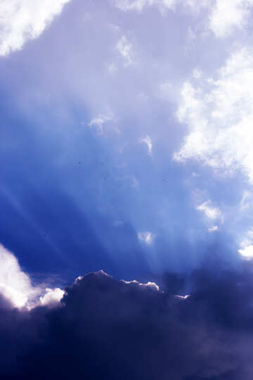 Sky cloud with rays №22673