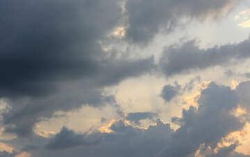 Sunset clouds №22729