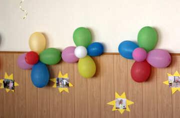 Balloons. Decorating the walls. №22114