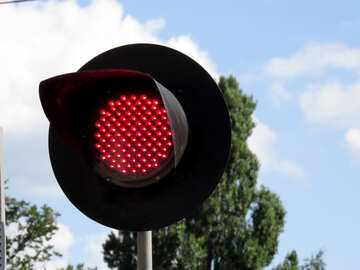 Rote Ampel an der Kreuzung №22988
