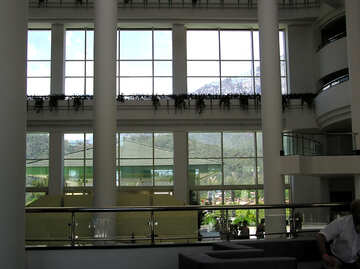Large windows in the hotel lobby №22019