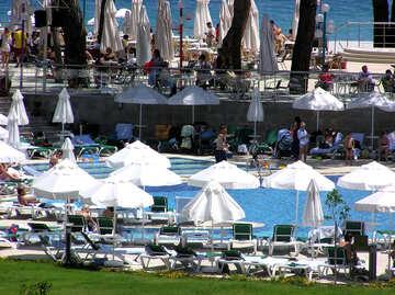 Pool at Turkish hotel №22021