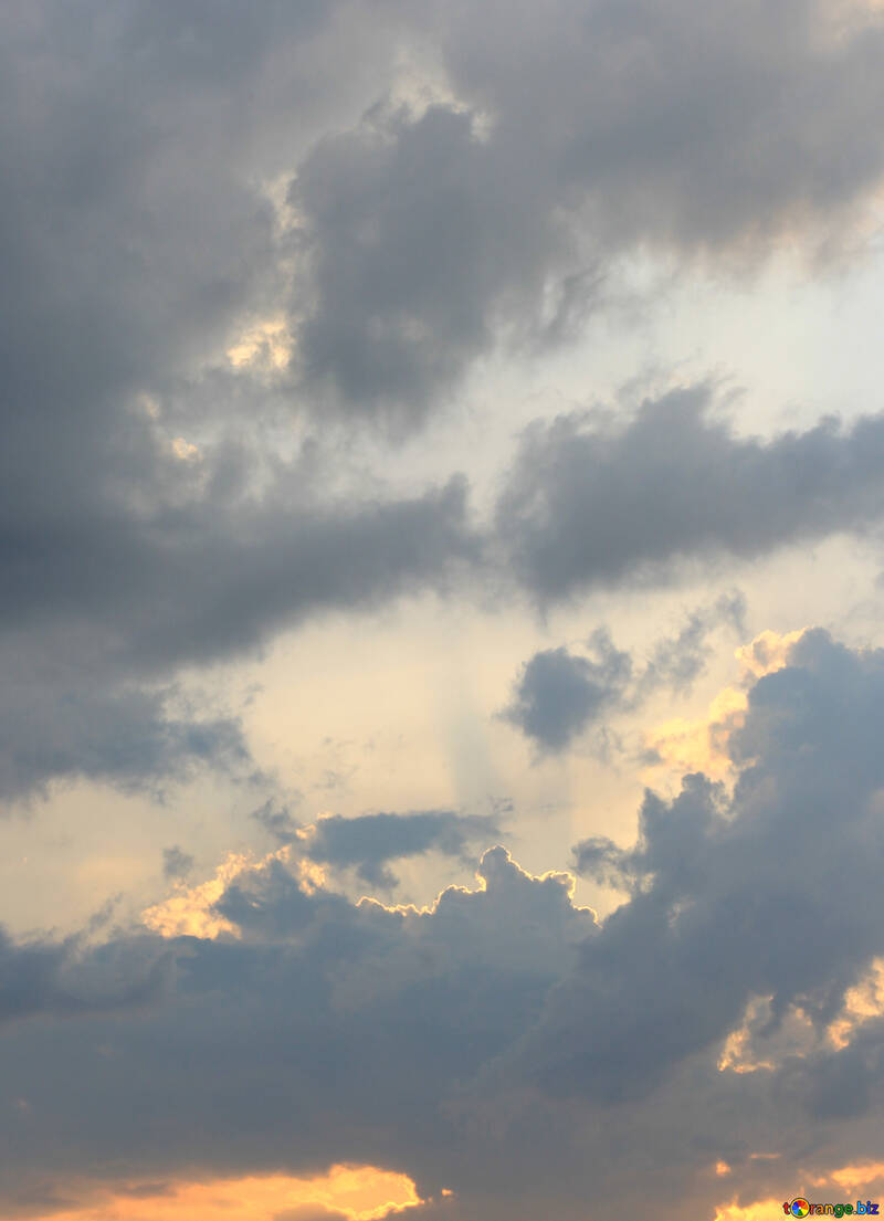 Clouds at sunset №22728