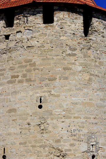 Wall circular tower. №23719