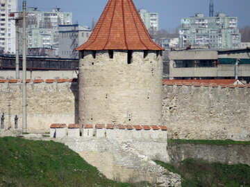 Old fortress in the urban landscape №23531