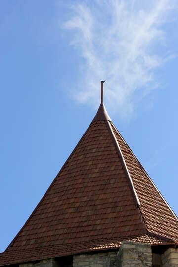 La torre di tetto tegola №23762