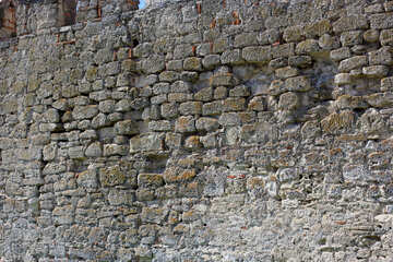 The wall of the fortress with traces of fire. №23663