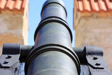 The barrel of an old gun №23702