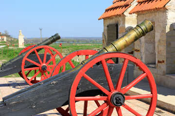 Geschütz auf Gun carriage №23710