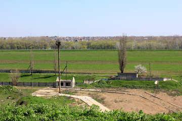 Spring suburban landscape №23689
