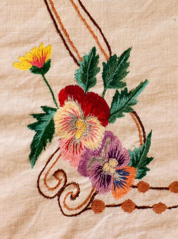 Old folk embroidery garment decoration.Texture.
