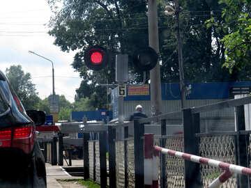 Geschlossenen Bahnübergang №23016