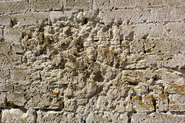 Wall with traces of bullets. №23741