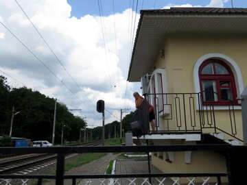 Railway crossing guard booth №23013