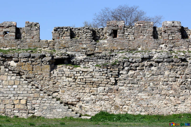 La pared de la antigua fortaleza №23834