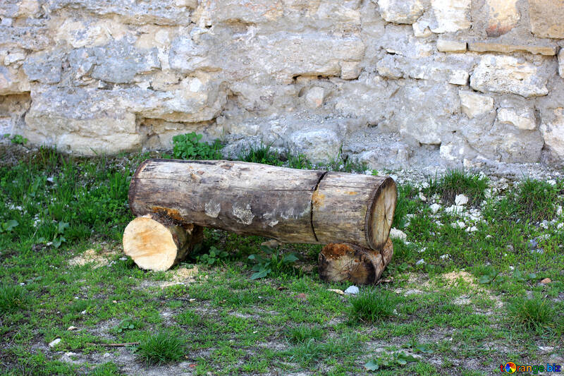 A bench of logs №23765