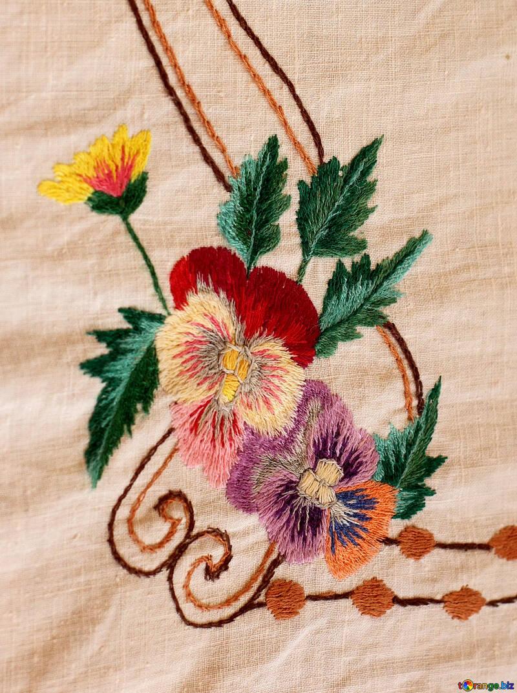 Old folk embroidery garment decoration.Texture. №23479