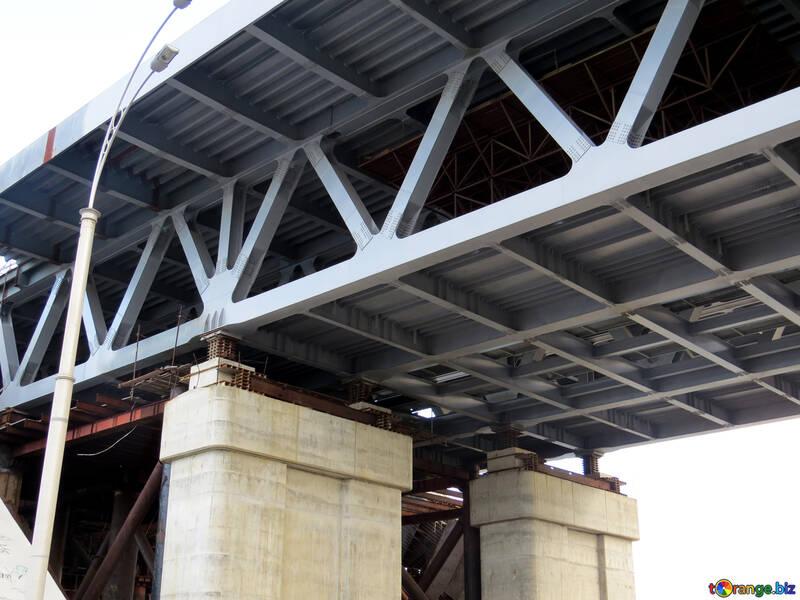 Iron bridge on pillars №23254