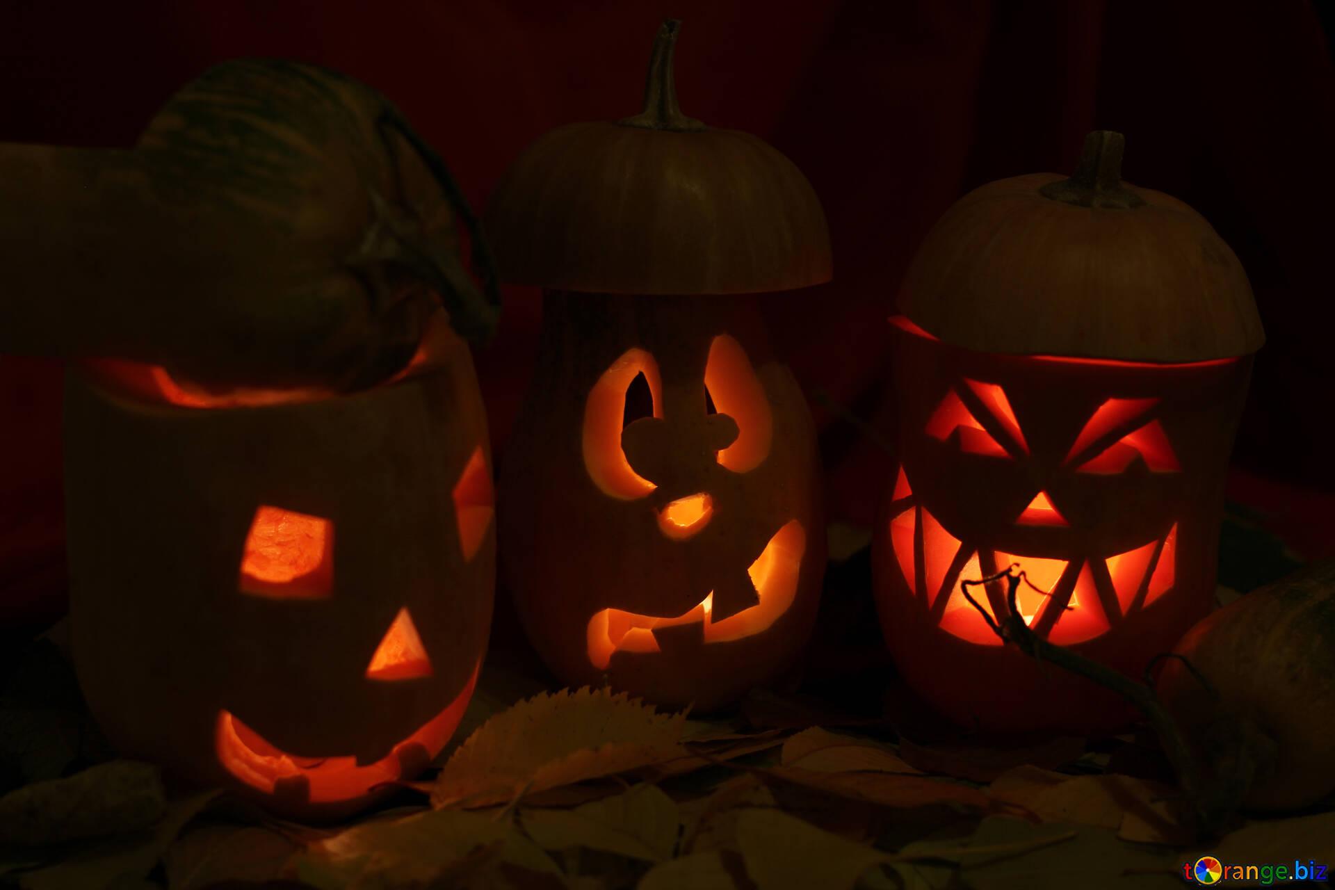 Fixtures Of Pumpkins For Halloween Greeting Card For Halloween