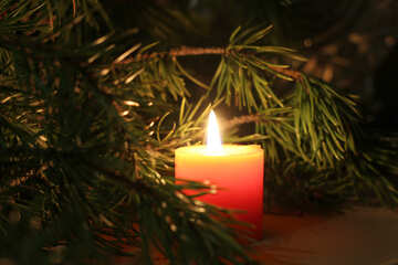 Christmas desktop wallpaper with candles №24632