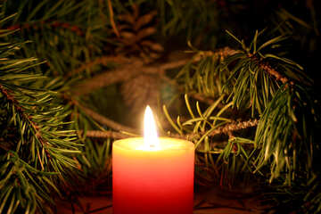 Beautiful Christmas candle №24633