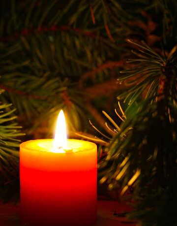 Новогодняя свеча №24631