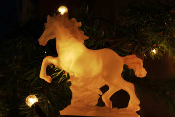 Horse under the Christmas tree №24544