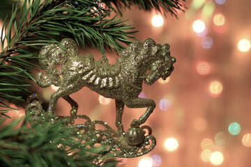 The horse on the Christmas tree №24602