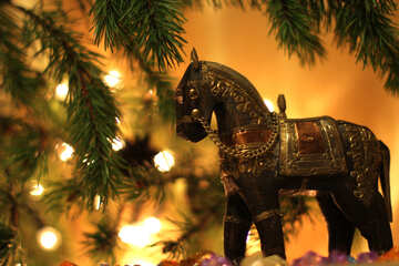 Horse under the Christmas tree №24622