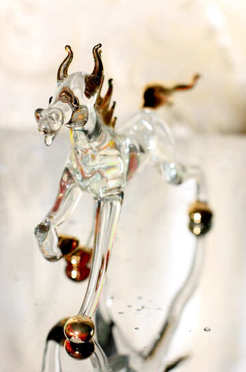 The figure of horse from glass №24524