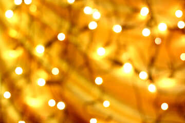 Background of Christmas garland light №24615