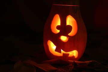 Halloween background image on greeting №24239