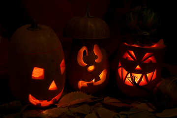 Congratulations on Halloween with pumpkin №24311