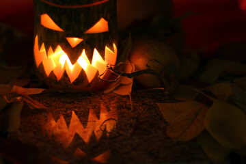 Lamp pumpkin for witch №24282