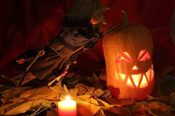 Picture pumpkin lamp for witches №24333
