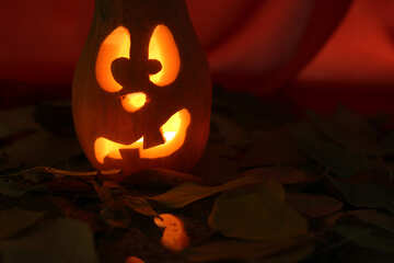 Candlestick picture of pumpkin on Halloween №24240