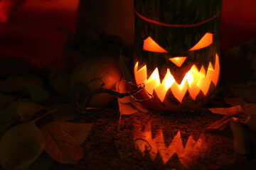 Pumpkin lamp for witches №24285