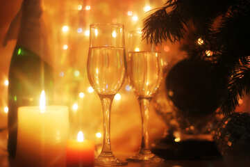 Christmas glasses №24684